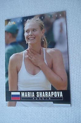 MARIA SHARAPOVA ^^^^ 2005 Ace Debut Edition #01 ^^^ Tennis Trading Card