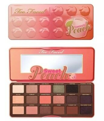 Sweet Peach Eye Shadow Collection Too Faced 18 Shades