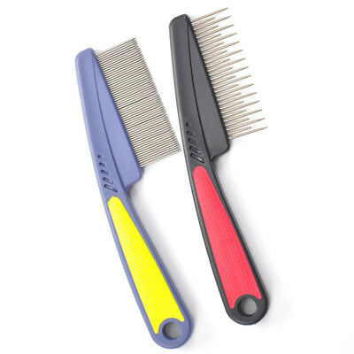 Pet Dog Comb Remove Fleas Lice Stainless Steel Comb Dog Cat Hair Grooming Tool >