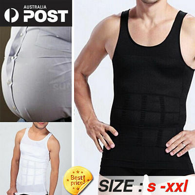 2126c6d2bd Men s Slimming Trimmer Body Shaper Vest Slim Compression Vest Shirt  Shapewear AU