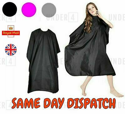 Unisex Adults Black Hair Salon Hairdressing Barbers Gown Cutting Cape Cover