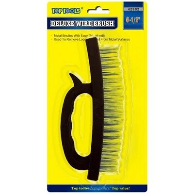 Stiff Metal Wire Scrubbing Brush Grip Handle Ideal for Rust Paint Removal