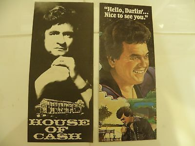 House of Johnny Cash & Conway Twitty City Vintage Hotel Lobby Brochures
