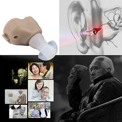 Mini Best Sound Amplifier Adjustable Tone In The Ear Hearing Aids Invisible GP