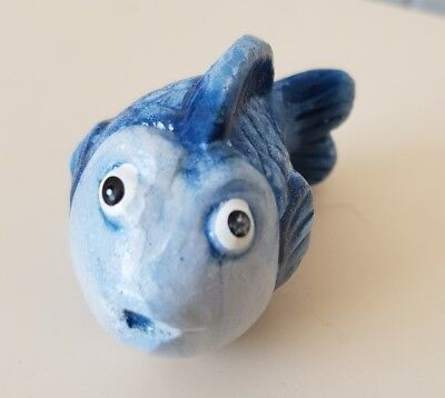 Joblot Bundle Of 12 Decorative Quirky Blue Fish Figures, Brand New Wholesale