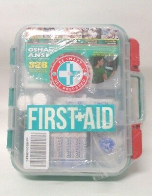 First Aid Kit Hard Case 326 Pieces Exceeds OSHA and ANSI Guidelines
