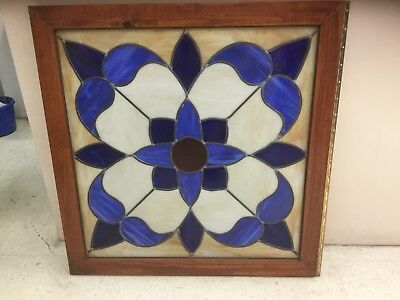 Stained glass window, Blue Flower, 1980s