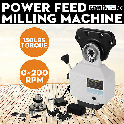 AS-250 X-Axis Power Feed Milling Machine Noiseless Mill Fit Milling Machines