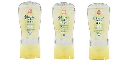 3 Pcs Johnson's Baby Oil Gel With Chamomile From 200 Ml Cu. Camomile Newborn