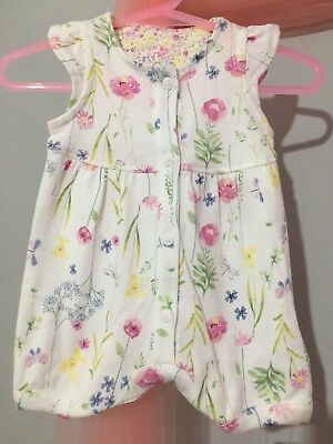 New With Tags Baby Girls Mothercare Floral Print Summer Romper Suit Newbaby🎀