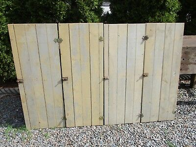 """4 Antique Cabinet Doors, 42""""H Natural Distressed Faded - Maine Farmhouse"""