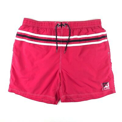 282954f41d Nautica Mens Red Striped Mesh Lined Nylon Swim Trunks Board Shorts Size XL