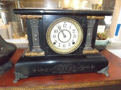 Antique Seth Thomas Adamantine No.102 Mantle Clock1900 w/ KEY TESTED-RUNS GREAT
