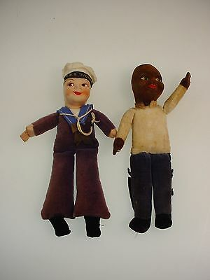 """Vintage Norah Wellings Doll African American Cpr Doll Rms Ivernia Sailor Doll 8"""""""