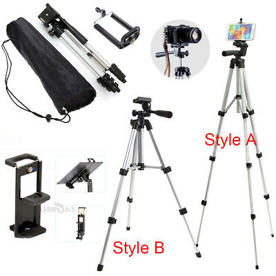 Professional Camera Tripod Stand Phone Holder Mount Fr iPhone Samsung Tablet LOT