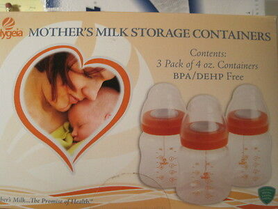 8 Boxes Hygeia Breast Milk Storage Containers 8oz Bottles BPA / DEHP FREE