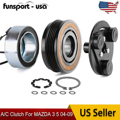 New 140162C For MAZDA 3 5 04-09 A/C Clutch Kit Front Plate Bearing Coil Pulley