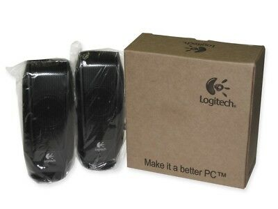 New Unopened Logitech S120 Powered Multimedia Stereo Speakers Part # 980-000012