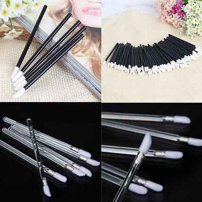 10/100pcs Disposable Lip Brush Gloss Lipstick Wands Applicator Brush Makeup Tool