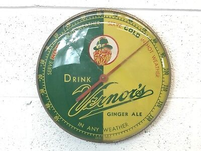 Vintage 1960's Vernor's Advertising Thermometer
