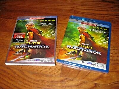 Thor: Ragnarok: Marvel Superhero (Blu-ray/DVD + Digital HD,2018) New + Fast Ship