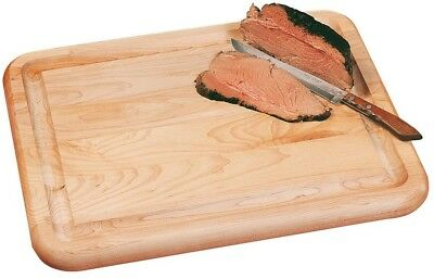 Cutting Board 15 in. x 19 in. Rectangle Hardwood Reversible in Natural Finish