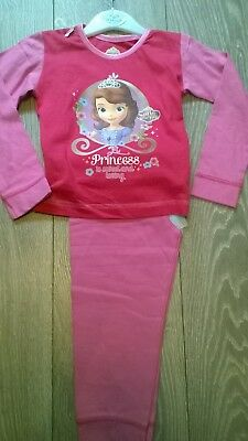 Pink Disney Princess Sofia The First pyjamas sleepwear set NEW Girls Age 2 3