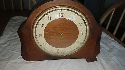 Vintage Smiths 30 Hour Mantle Clock,spares Non Running