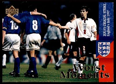 Upper Deck England 1998 - Worst Moments England - Italy 1997 # 63