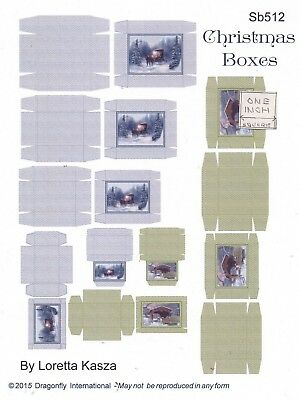 Victorian Boxes Sheet  SB109 dollhouse miniature Dragonfly 1//12 scale Kit