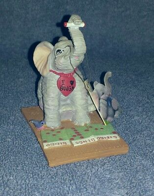 "Luckyphants #1044 Leona ""I Love Bingo"" Banberry Designs 1995 with tag"