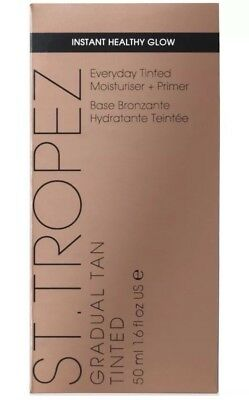 St Tropez Gradual Tan Tinted Everyday Moisturiser + Primer For Face 50ml NEW