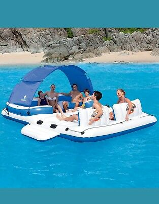 Bestway Tropical Breeze Inflatable Floating Island Lounger Beach Pool 43105