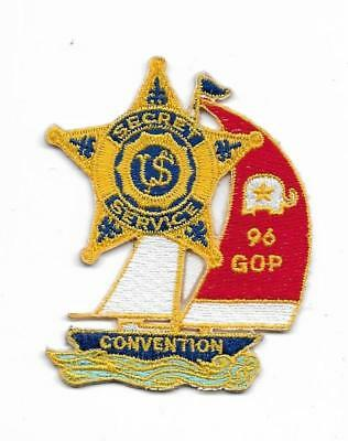 SPECIAL: SECRET SERVICE  USSS  GOP 96  Police Patch Polizei Abzeichen USA 7,7 cm