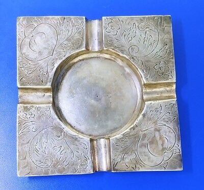 925 Sterling Silver Camacho/Camajho Antique Ashtray Cigar Cigarette 53.2g ML2670