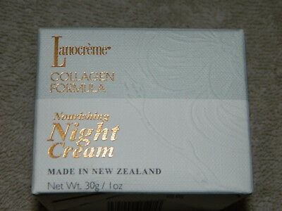 LANOCREME COLLAGEN FORMULA NOURISHING NIGHT CREAM 1 oz / 30 g  NEW