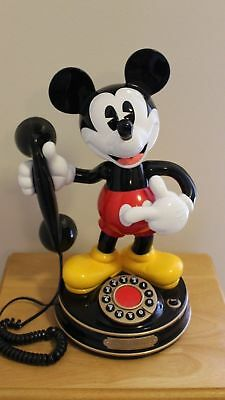 Vintage Mickey Mouse Animated Talking Telephone 1997 SELLING AS IS UNTESTED