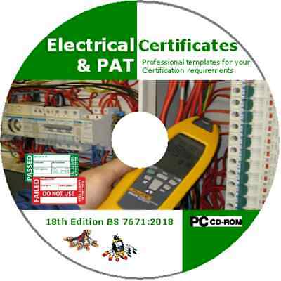 Electrical & PAT Testing Forms & Certificates BS7671 17th Edition 3rd Amendment
