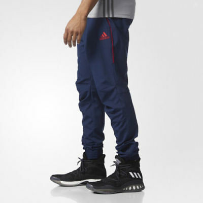 NEW* Adidas Men's Jogger Foundation Workout Pant Navy Blue Red BQ5333 NWT Pants