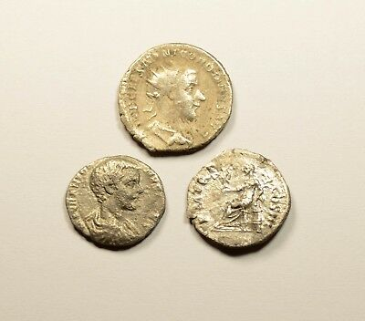 Scarce Lot Of 3 Ancient Roman Silver Coins