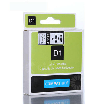 Compatible Dymo D1 manager 12mm black on white used for Dymo Label Printer45013