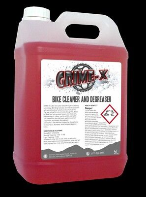 5 Litres Grime-X Bike Cycle Cleaner & Chain Degreaser Strong Citrus Clean Bio