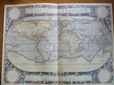 Quality Colour Reproduction of Ortelius World Map produced  c.1560.