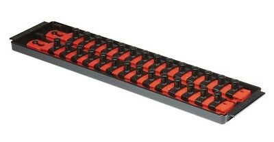 "Ernst 8493 2 Rail 13"" 3/8"" Dr. Socket Boss Organizer Tray - Red"