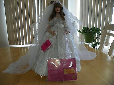 Paradise Galleries Treasury Collection  Bridal Porcelain Doll named Lily