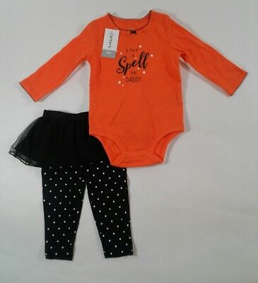 Girls Toddler Carters Halloween 3 Piece Long Sleeve Outfit Set Select Size (A269