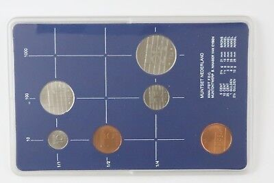1984 Netherlands mint set of 7x Beatrix Koningin Der coins. Two sets available.
