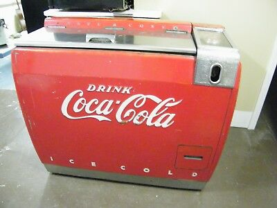 "Vintage 1930's Coca Cola Coke 42"" Cooler LOCAL PICK UP ONLY"