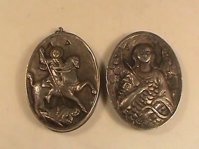 Antique high relief silver reliquary pendant locket box angel sword antique high relief silver reliquary pendant locket box angel sword serpent aloadofball Image collections