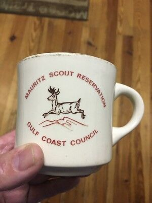 Vintage Boy Scout Mug Gulf Coast Council Mauritz Scout Reservation